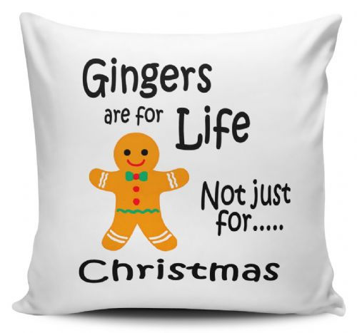 Gingers Are For Life Not Just For Christmas Funny Novelty Cushion Cover (1)